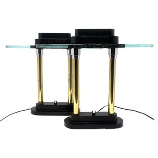 Pair of Robert Sonneman for George Kovacs Table Lamps, 1987 For Sale