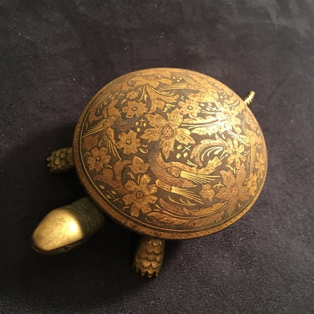 Antique Boj Eibar Bell Ring Service Turtle For Sale - Image 4 of 6