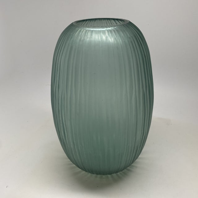 Glass Bungalow 5 Small Gray Blue Moderni Vase For Sale - Image 7 of 9