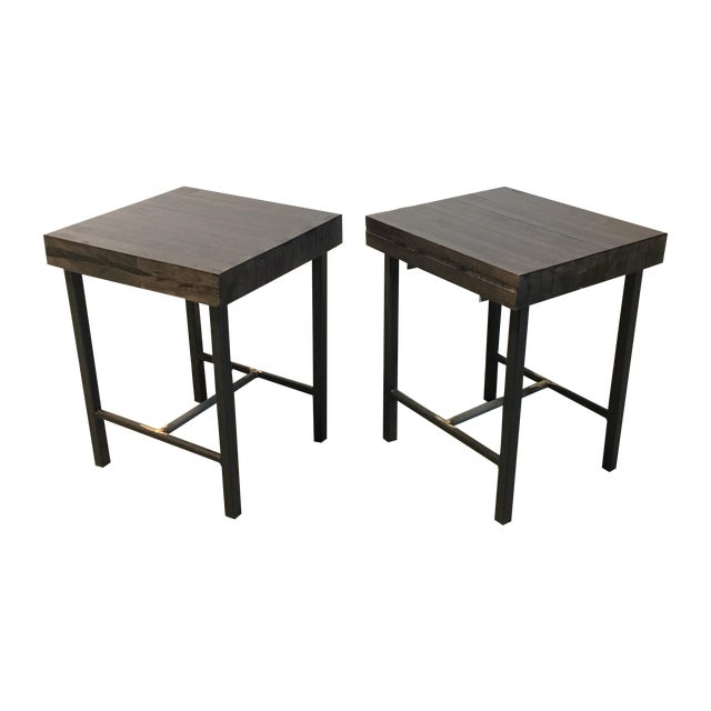 Bowling Lane Side Tables - A Pair - Image 1 of 4