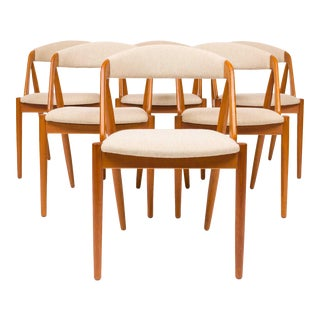 Vintage Kai Kristensen Model 31 Dining Chairs - Set of 6 For Sale