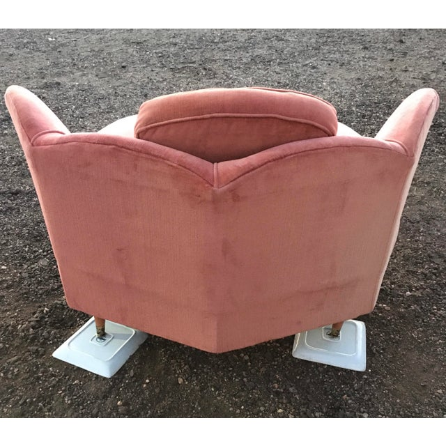 Adrian Pearsall 1950s Vintage Milo Baughman Style Geometric Chaise Lounge For Sale - Image 4 of 13