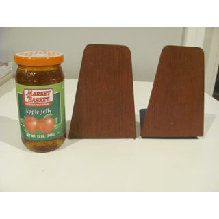 Danish Modern Style Teak Bookends by Viking of Japan - a Pair Preview