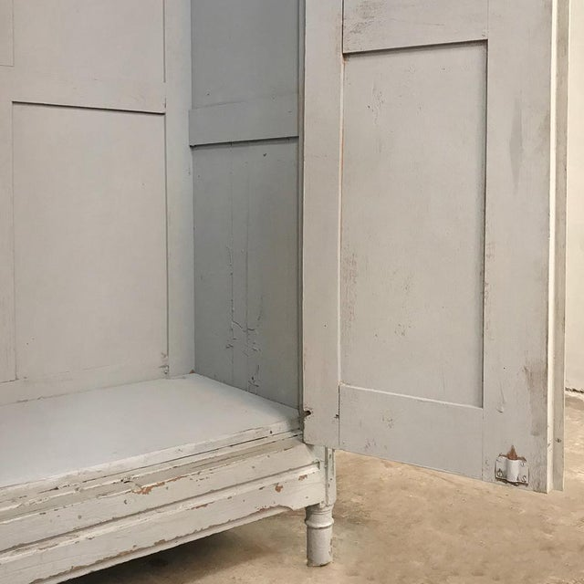 Pair Antique Painted Wooden Locker Cabinets For Sale - Image 10 of 13