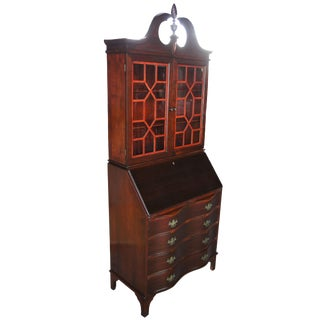 Antique Serpentine Walnut Cabinet For Sale