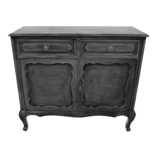 20th Century French Gray Oak Cabinet