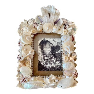 Seashell Table Top Picture Frame For Sale