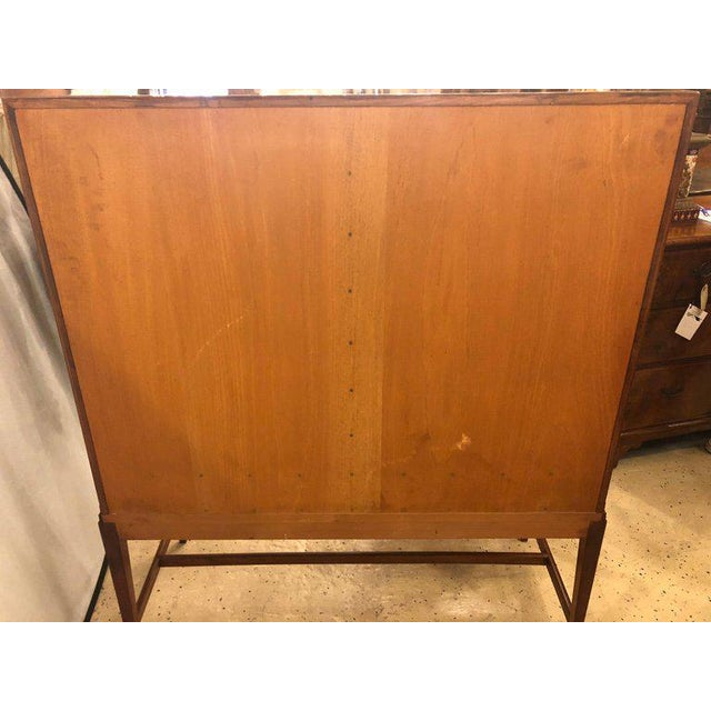 Two-Door Over Three-Drawer Mid-Century Modern Brazilian Rosewood Cabinet Chest For Sale - Image 12 of 13
