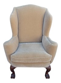 Image of Newly Made Tan Wingback Chairs