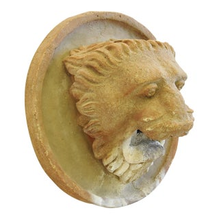 Vintage Concrete Lion Wall Fountain Garden Decoration For Sale