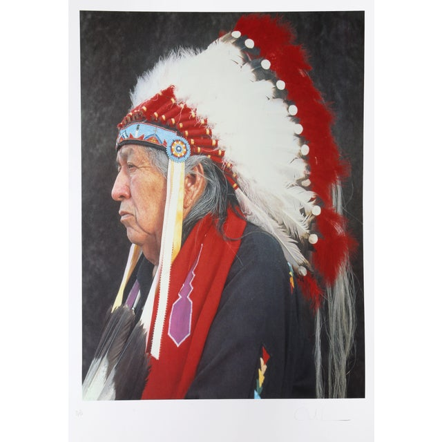 """""""Native American Portraits: Otoe-Missouri Chief"""" by Andres Serrano For Sale - Image 4 of 4"""