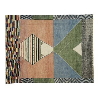 Contemporary Moroccan Area Rug- 10′3″ × 13′ For Sale