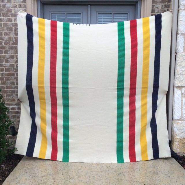 Vintage Hudson Bay Point Blanket - Image 2 of 9
