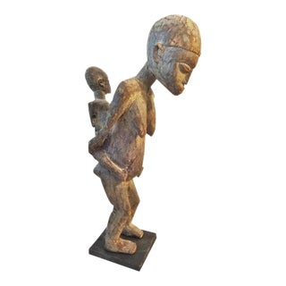 Old Lobi Maternity Sculpture Burkina Faso 23.75H