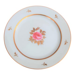 Vintage 1933 Hand Painted Spring Rose Plate by Noritake China