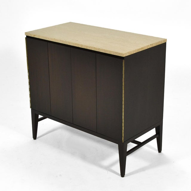 1950s Paul McCobb Cabinets/ Credenzas with TravertineTops by Calvin For Sale - Image 5 of 11