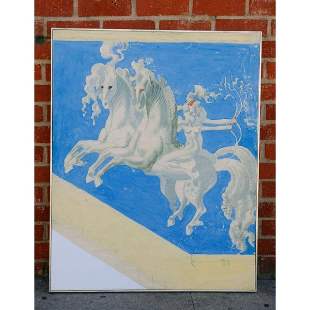 Large William Haines Canvases Drawing For Sale - Image 4 of 10