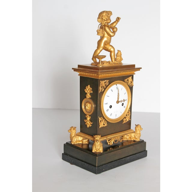 Early 19th Century French Clock With Putto For Sale - Image 4 of 13