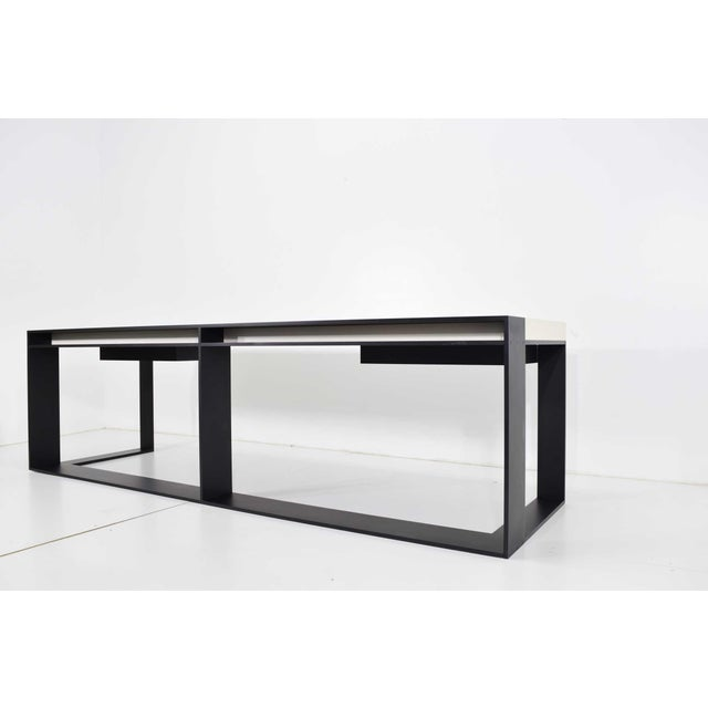 Metal Christian Liaigre Connectable Leather Desk For Sale - Image 7 of 12