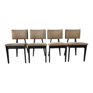 George Nelson Herman Miller Mid-Century Black Side Dining Chairs - Set of 4 For Sale