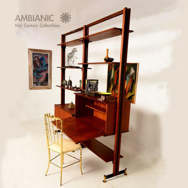 Mid-Century Modern Italian Wall Unit For Sale In San Diego - Image 6 of 6