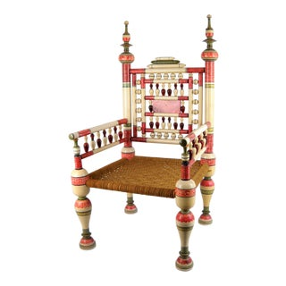 Old Punjabi Indian Wedding Chair For Sale