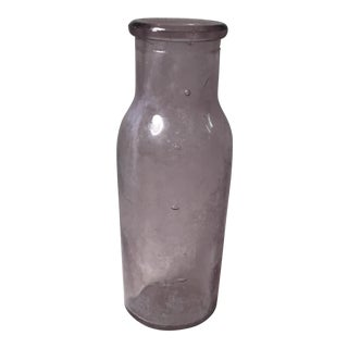Antique Glass Purple Bottle For Sale