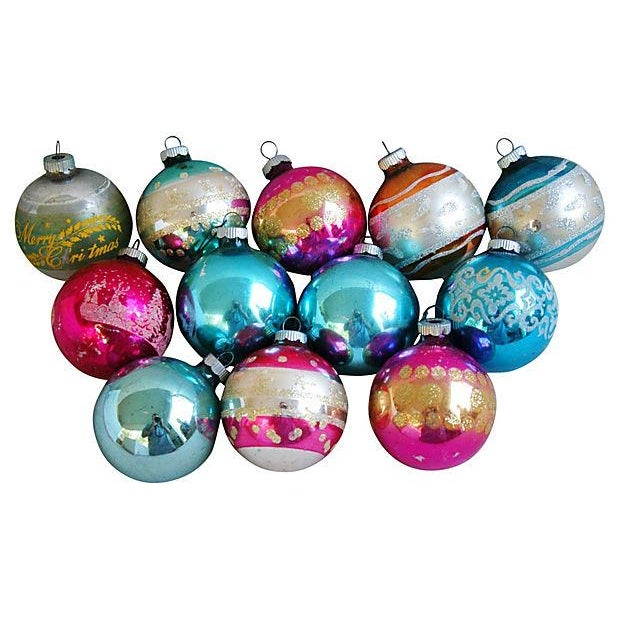 1960s Christmas Holiday Ornaments - Set of 12 - Image 1 of 5