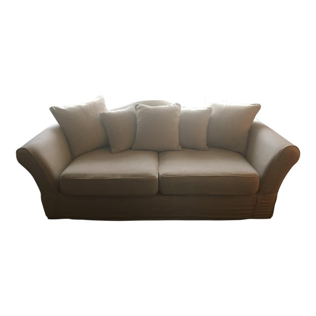 Restoration Hardware Sale: Restoration Hardware Camelback Slipcovered Sofa