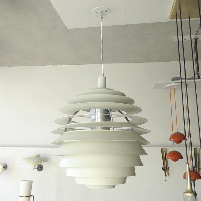 1960s Poul Henningsen Ph Louvre Pendant Light For Sale In Los Angeles - Image 6 of 11
