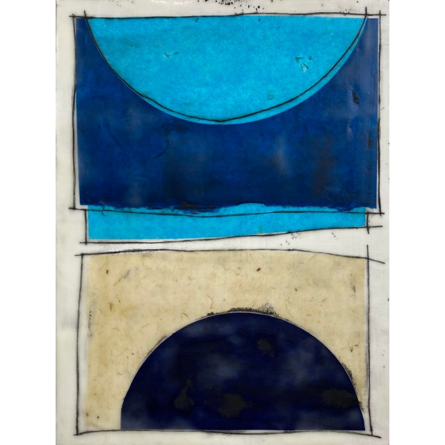 """Wood """"Notes to My Younger Self"""" 9 Panels Encaustic Collage Installation by Gina Cochran For Sale - Image 7 of 13"""