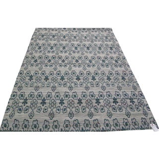 New Loom Jacquard Indian Rug - 5' × 8' For Sale