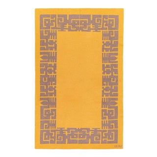 Maison Leleu - Azteque Mustard Cashmere Blanket, 51' X 71' For Sale