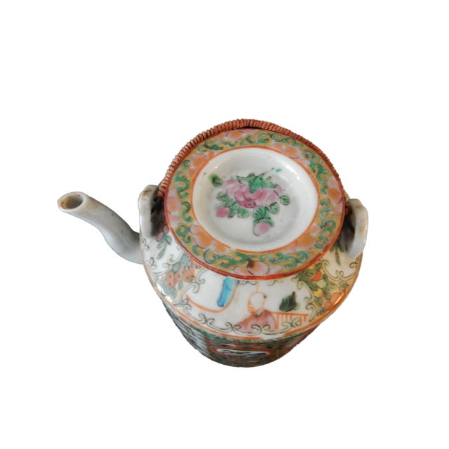 Rose Medallion Teapot - Famille Rose - Rose Canton - c. 1900 - Image 4 of 8