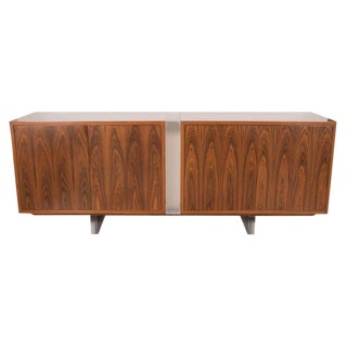 Illuminated Bogart Cabinet in Santos Rosewood and Lucite Legs by Vladimir Kagan