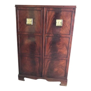 1970s Art Nouveau Cherrywood Bar Cabinet For Sale