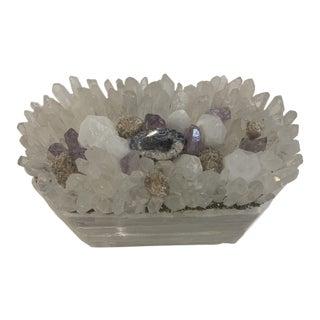 Crystal Amethyst Lidded Box For Sale