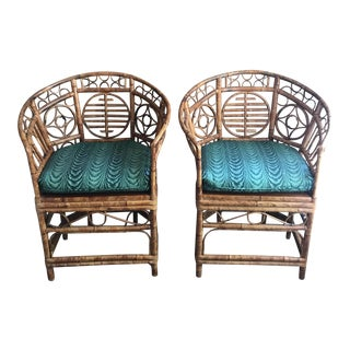 Bamboo Brighton Pavilion Chairs - A Pair