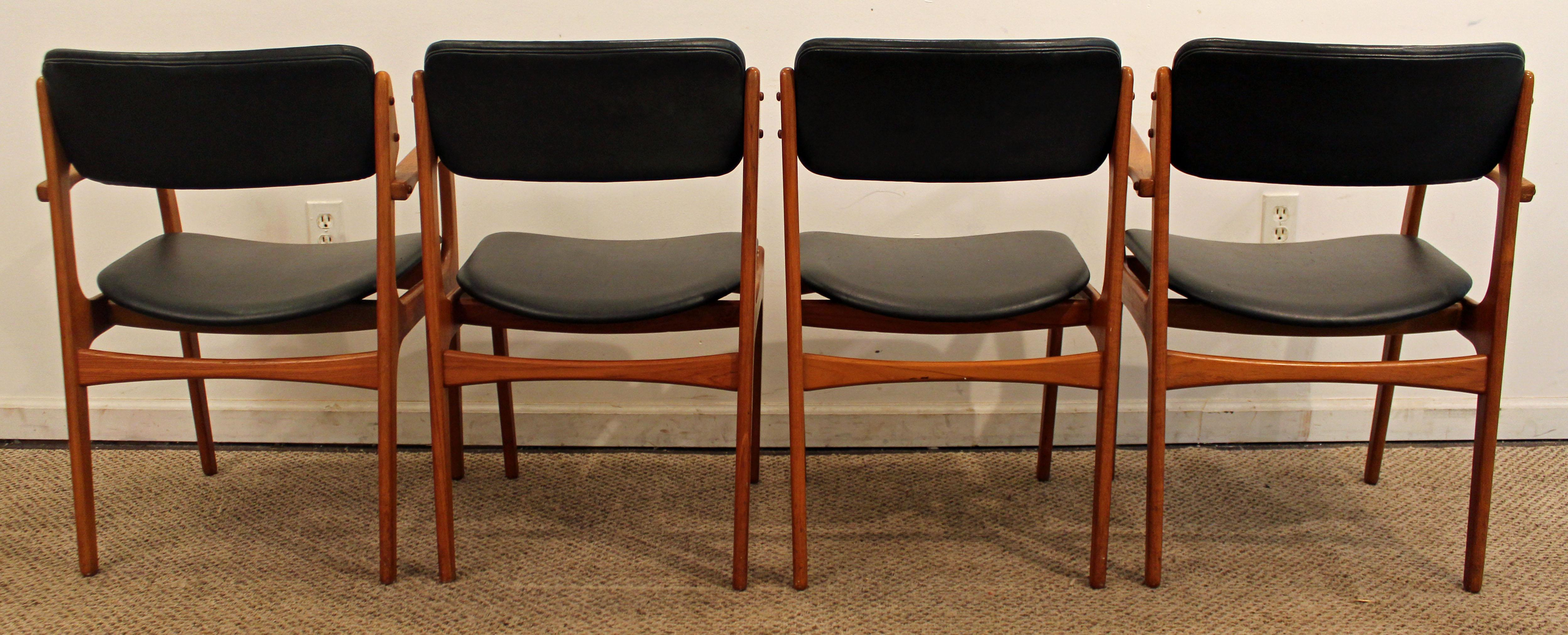 erik buch for o d mobler teak dining chairs set of 4 chairish