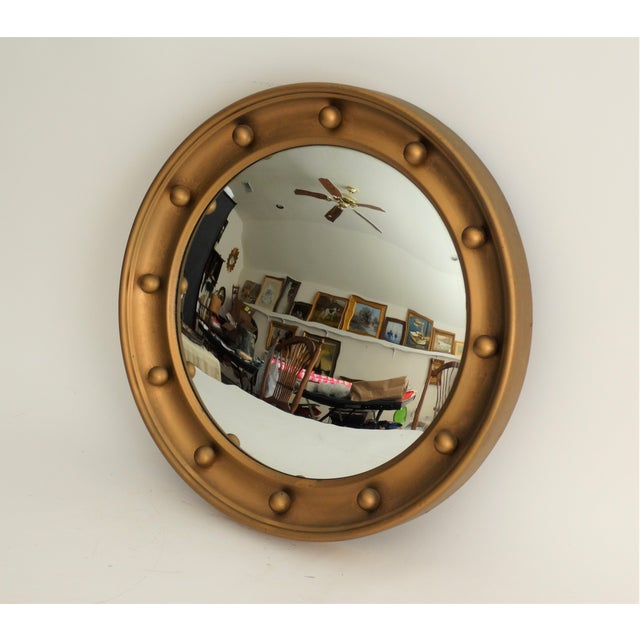 English Convex Round Bullseye Mirror For Sale In Houston - Image 6 of 7