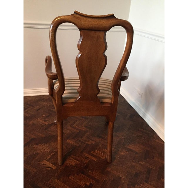 Antique Mahogany Dining Chairs - Set of 8 - Image 9 of 11