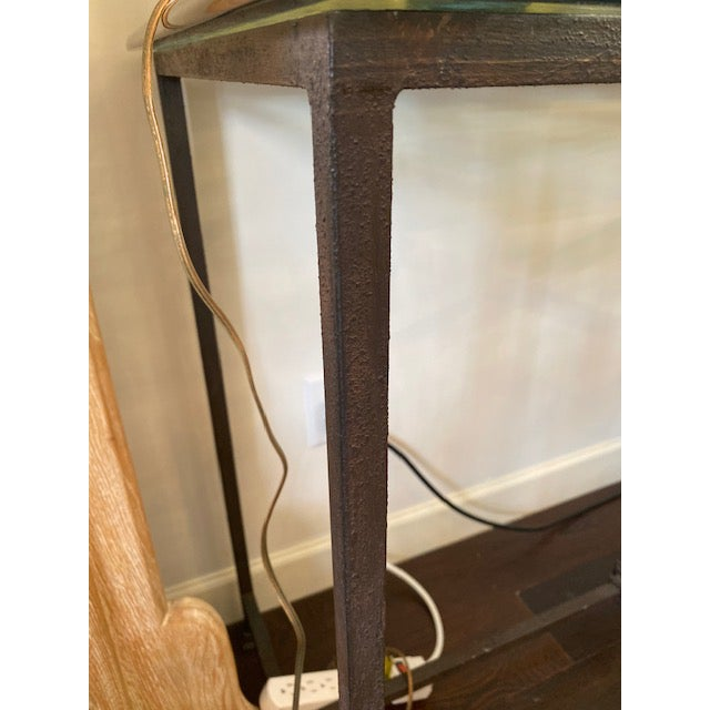 Iron and Glass Arrow Motif Console For Sale - Image 12 of 12