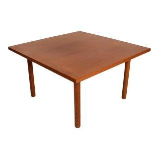 Danish Modern Hans Wegner Teak and Oak Coffee Table For Sale