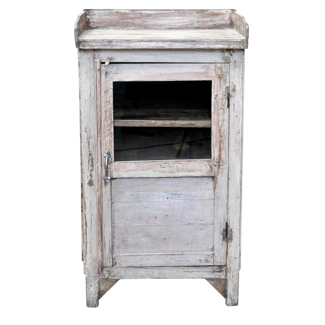 Distressed White-Painted Cabinet - Image 1 of 2