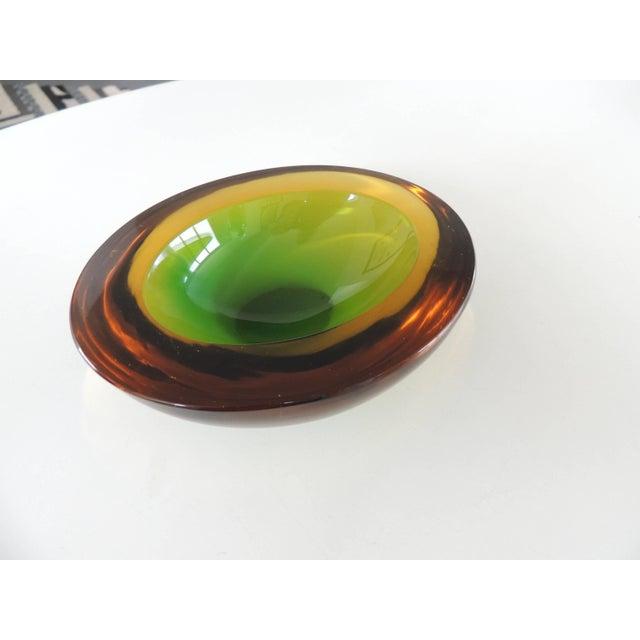 Art Glass 1970s Mid Century Modern Murano Geode Seguso Glass Art Bowl For Sale - Image 7 of 7