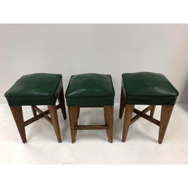 1940s French Oak Stools For Sale In New York - Image 6 of 6