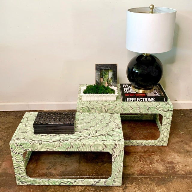 Wood 1970s Mid-Century Modern Celerie Kemble Nesting Tables - a Pair For Sale - Image 7 of 9