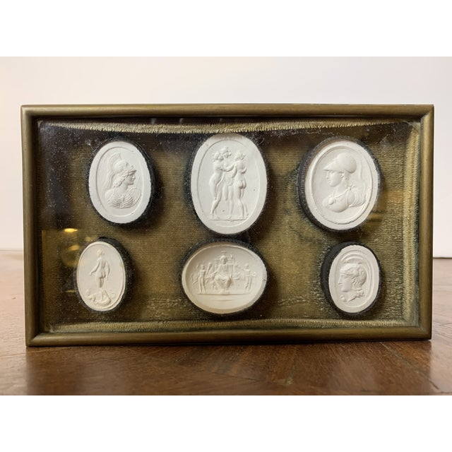 Gold 1810 Grand Tour Jewelry Box With Neoclassical Plaster Cameos For Sale - Image 8 of 8