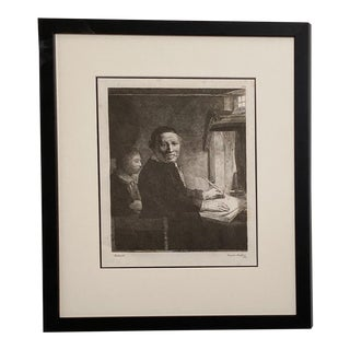 Late 18th Century Rembrandt Etching #26, by Francesco Novelli For Sale