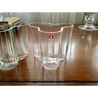 Iittala AlvarAalto Savoy Wave Modernist Vases - a Pair Preview